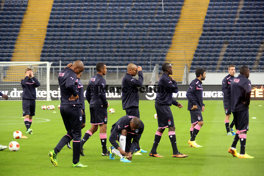 Training Girondins Bordeaux in der Commerzbank Arena - Training Bordeaux zur Begegnung der Europa League Eintracht Frankfurt vs. Girondins Bordeaux