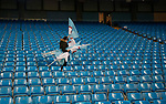 Fans collect flags at the end of the match during the English Premier League match at the Etihad Stadium, Manchester. Picture date: May 16th 2017. Pic credit should read: Simon Bellis/Sportimage
