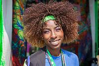 Cece, Beautiful African-American Woman at Hempfest Seattle, WA, USA.