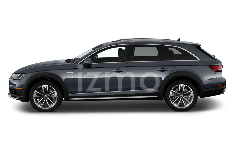 Car driver side profile view of a 2018 Audi allroad Premium 5 Door Wagon