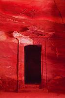 Door inside Treasury, Petra, Kingdom of Jordan