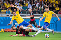 Mats Hummels (GER), Fred (BRA), JULY 8, 2014 - Football / Soccer : FIFA World Cup Brazil 2014 Semi Final match between Brazil 1-7 Germany at Estadio Mineirao in Belo Horizonte, Brazil. (Photo by Maurizio Borsari/AFLO)