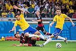 Mats Hummels (GER), Fred (BRA), JULY 8, 2014 - Football / Soccer : FIFA World Cup Brazil 2014 Semi Final match between Brazil 1-7 Germany at Estadio Mineirao in Belo Horizonte, Brazil. (Photo by Maurizio Borsari/AFLO)