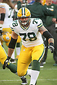 August 26 2016: Offensive Lineman Jason Spriggs of the Green Bay Packers during the Green Bay Packers during a 21-10 victory over the San Francisco 49ers at Levi's Stadium in Santa Clara, Ca.