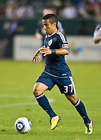 CARSON, CA - September 17, 2011: Vancouver Whitecaps midfielder Camilo (37) during the match between LA Galaxy and Vancouver Whitecaps at the Home Depot Center in Carson, California. Final score LA Galaxy 3, Vancouver Whitecaps 0.