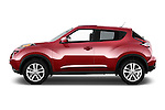 Car Driver side profile view of a 2015 Nissan Juke Acenta 5 Door Suv Side View