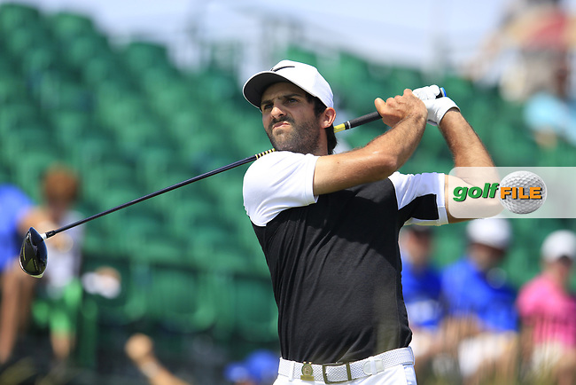 Joel Stalter (FRA) tees off the 1st tee to start his match during Friday's Round 2 of the 117th U.S. Open Championship 2017 held at Erin Hills, Erin, Wisconsin, USA. 16th June 2017.<br /> Picture: Eoin Clarke | Golffile<br /> <br /> <br /> All photos usage must carry mandatory copyright credit (&copy; Golffile | Eoin Clarke)
