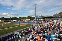 General view of a Batavia Muckdogs game against the State College Spikes on June 22, 2016 at Dwyer Stadium in Batavia, New York.  State College defeated Batavia 11-1.  (Mike Janes/Four Seam Images)