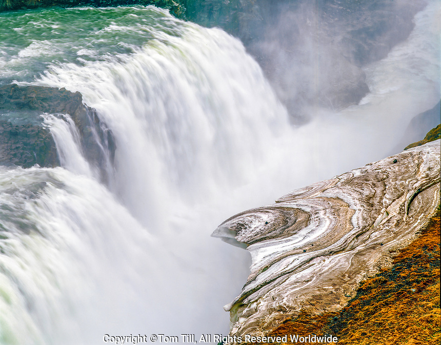 Gullfoss Waterfall, Gullfoss Nature Preserve, Iceland Hvita River Iceland's Golden Circle