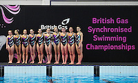 PICTURE BY ALEX BROADWAY/SWPIX.COM - Synchronised Swimming - British Gas Synchronised Swimming Championships 2012 - GL1 Leisure Centre, Gloucester, England - 25/03/12 - Rushmoor Synchro SC compete in the Team Free Final.