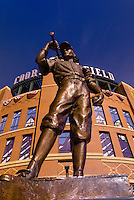Statue (The Player), Coors Field (baseball stadium), LoDo (Lower Downtown), Denver, Colorado USA