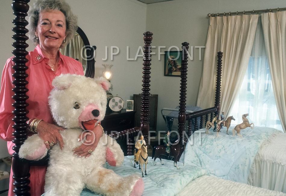 Memphis, U.S.A, 1987. Patty Micci, the mother of Cybill Shepherd.