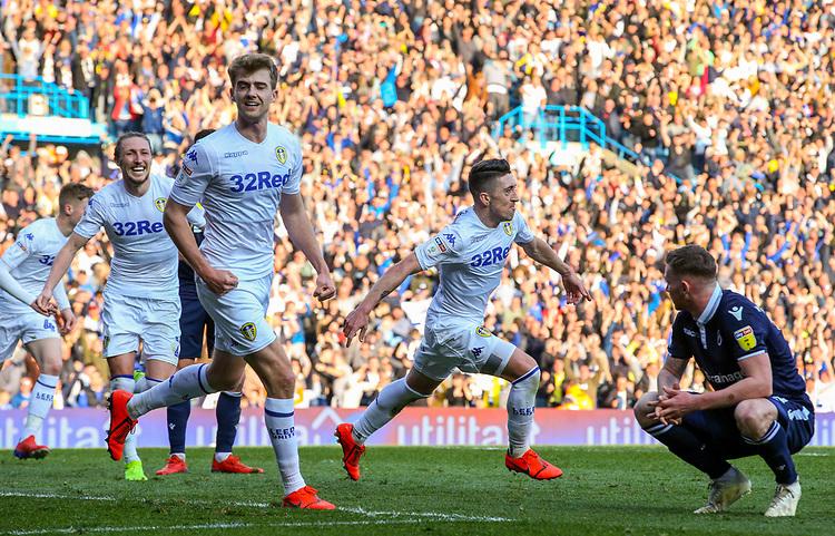 Leeds United's Pablo Hernandez celebrates scoring the winning goal - his side's third <br /> <br /> Photographer Alex Dodd/CameraSport<br /> <br /> The EFL Sky Bet Championship - Leeds United v Millwall - Saturday 30th March 2019 - Elland Road - Leeds<br /> <br /> World Copyright © 2019 CameraSport. All rights reserved. 43 Linden Ave. Countesthorpe. Leicester. England. LE8 5PG - Tel: +44 (0) 116 277 4147 - admin@camerasport.com - www.camerasport.com