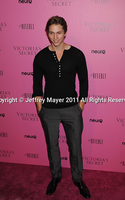 """LOS ANGELES, CA - MAY 12: Benjamin Stone arrives to the Victoria's Secret 6th Annual """"What Is Sexy? List: Bombshell Summer Edition"""" Pink Carpet Event at The Beverly on May 12, 2011 in Los Angeles, California."""