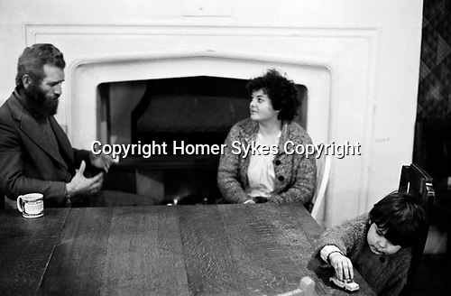 Chiswick Women's Aid, Richmone London Uk 1975. Mother and father and their son. She is at the refuge, he has come to talk with her and see his son.