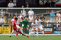 Fabio Carvalho of Fulham takes a shot at the Bromley goal during Bromley vs Fulham, Friendly Match Football at the H2T Group Stadium on 6th July 2019