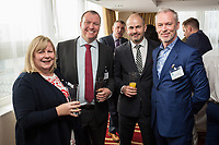 Pictured from left are Trisha Hennessy and Rob Watts both of Park Plaza,, Simon Gray of Nottingham Partners and speaker Brendan Moffett of Marketing NG