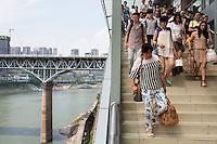 Niujiaotuo subway platform - Chongqing
