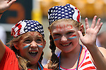 16 August 2015: U.S. fans. The United States Women's National Team played the Costa Rica Women's National Team at Heinz Field in Pittsburgh, Pennsylvania in an women's international friendly soccer game. The U.S. won the game 8-0.