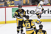 8th June 2017, Pittsburgh, PA, USA; Pittsburgh Penguins right wing Phil Kessel (81) celebrates his goal with center Scott Wilson (23) during the second period in Game Five of the 2017 NHL Stanley Cup Final between the Nashville Predators and the Pittsburgh Penguins on June 8, 2017, at PPG Paints Arena