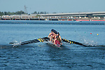 May 18, 2013; Gold River, CA, USA; Loyola Marymount Lions I Eight during the WCC Rowing Championships at Sacramento State Aquatic Center.