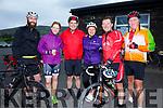 Taking part in the Mike Murphy Memorial Cycle from Cahersiveen on Saturday were l-r; Denis Jones, Niamh Garvey, Gearóid Ó Loingsigh, Laoise Egan, Seanachán. McGearailt & Tomas Ó Luing.