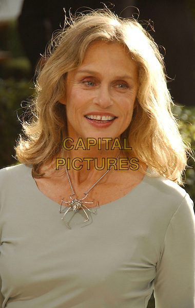 LAUREN HUTTON.The 2007 Vanity Fair Oscar Party Hosted by Graydon Carter held at Morton's, West Hollywood, California, USA,.25 February 2007..portrait headshot silver spider necklace grey top.CAP/ADM/GB.©Gary Boas/AdMedia/Capital Pictures.