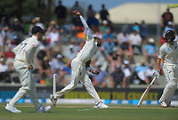 England's Jofra Archer bowls during day two of the international cricket 1st test match between NZ Black Caps and England at Bay Oval in Mount Maunganui, New Zealand on Friday, 22 November 2019. Photo: Dave Lintott / lintottphoto.co.nz