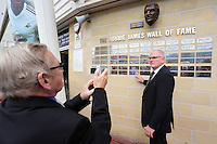 Pictured: Former footballer Tony Millington (R).  Saturday 22 September 2014<br />