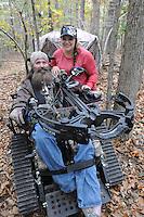 NWA Democrat-Gazette/FLIP PUTTHOFF <br /> Deer hunting is a team effort     Oct. 26 2016   for Steve and Jackie Swope. Steve was diagnosed with ALS in 2008.