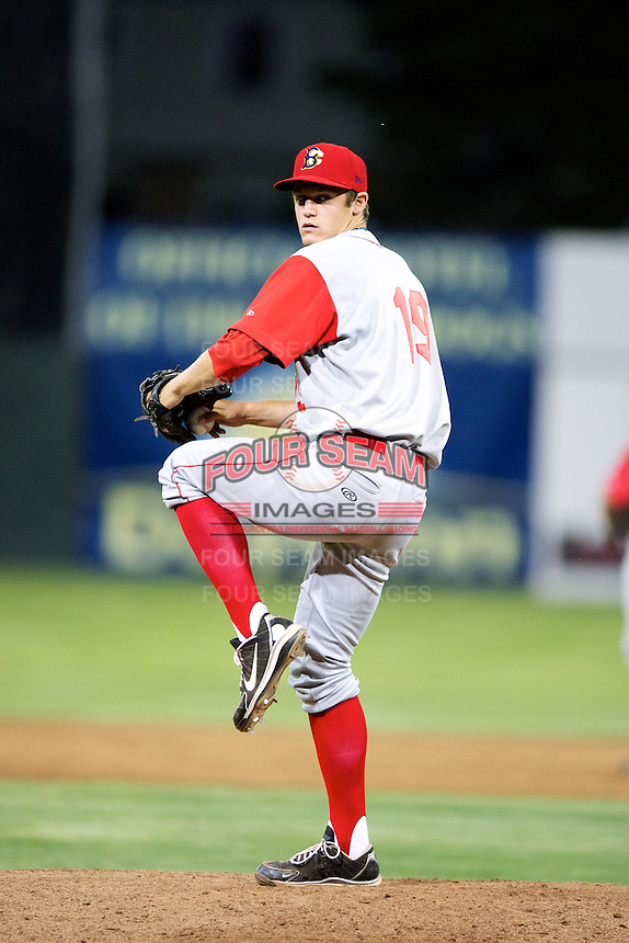 Brooklyn Cyclones pitcher Paul Sewald #19 during a game against the Batavia Muckdogs at Dwyer Stadium on July 25, 2012 in Batavia, New York.  Brooklyn defeated Batavia 3-2.  (Mike Janes/Four Seam Images)