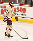 Travis Jeke (BC - 8) - The visiting Harvard University Crimson defeated the Boston College Eagles 6-3 (EN) on Tuesday, November 11, 2014, at Kelley Rink in Conte Forum in Chestnut Hill, Massachusetts.