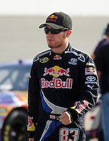 May 2, 2008; Richmond, VA, USA; NASCAR Sprint Cup Series driver Brian Vickers during qualifying for the Dan Lowry 400 at the Richmond International Raceway. Mandatory Credit: Mark J. Rebilas-US PRESSWIRE