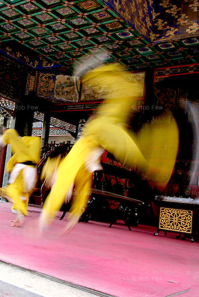 Acrobats in the Summer Palace, Beijing.