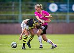 Solna 2014-08-16 Fotboll Damallsvenskan AIK - Kopparbergs/G&ouml;teborg FC :  <br /> Kopparbergs/G&ouml;teborgs Annica Sj&ouml;lund i kamp om bollen med AIK:s Petra Andersson <br /> (Foto: Kenta J&ouml;nsson) Nyckelord:  AIK Gnaget Kopparbergs G&ouml;teborg Kopparbergs/G&ouml;teborg