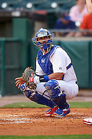 Buffalo Bisons catcher Tony Sanchez (26) during a game against the Lehigh Valley IronPigs on July 9, 2016 at Coca-Cola Field in Buffalo, New York.  Lehigh Valley defeated Buffalo 9-1 in a rain shortened game.  (Mike Janes/Four Seam Images)