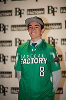 Max Manning (8) of Marin Catholic High School in Larkspur, California during the Baseball Factory All-America Pre-Season Tournament, powered by Under Armour, on January 12, 2018 at Sloan Park Complex in Mesa, Arizona.  (Zachary Lucy/Four Seam Images)