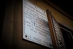 """The House of Memory of Felicia and Peppino Impastato in Cinisi, a center of resistance against the Mafia. It was from this house that Impastato counted the """"cento passi"""" a """"hundred steps"""" distance from the residence of the local mafiaboss Don Tano. / La Casa della Memoria di Felicia e Peppino Impastato a Cinisi. Un avamposto della resistenza contro il potere e la mafia. E' da qui che Impastato contava """"i cento passi"""" dalla casa di don Tano."""
