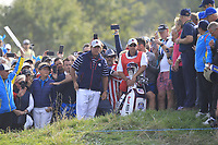 Phil Mickelson (Team USA) on the 6th during the Friday Foursomes at the Ryder Cup, Le Golf National, Ile-de-France, France. 28/09/2018.<br /> Picture Thos Caffrey / Golffile.ie<br /> <br /> All photo usage must carry mandatory copyright credit (&copy; Golffile | Thos Caffrey)