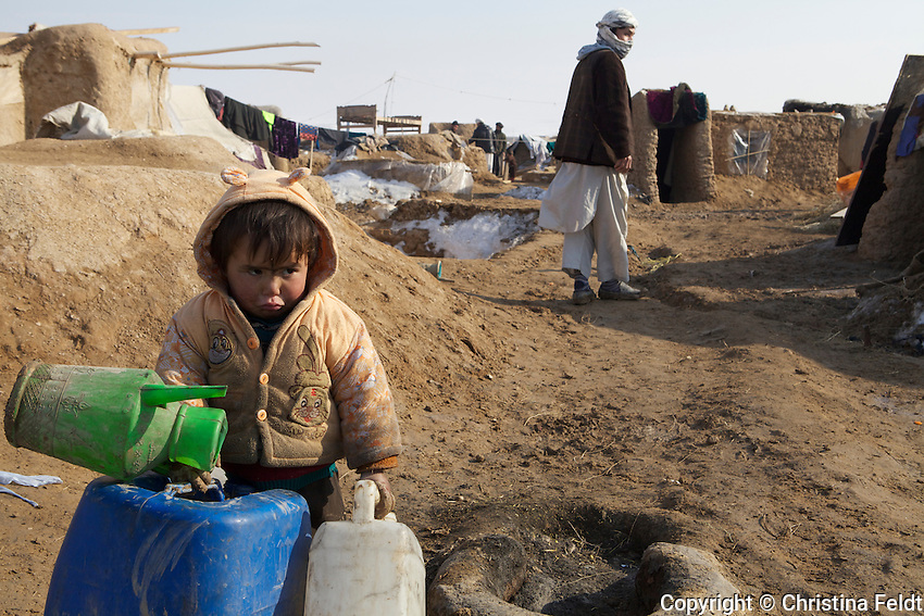 Child at Qalin Bafan Returnee Site, North Afghanistan