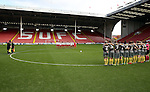The Sheffield United Ladies team observe a minutes silence before kick off during the FA Women's Cup First Round match at Bramall Lane Stadium, Sheffield. Picture date: December 4th, 2016. Pic Clint Hughes/Sportimage