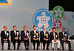 June 14th, 2012: Tokyo, Japan - Officers of Japan Toy Association sit during the open ceremony of International Tokyo Toy Show 2012 at Tokyo Big Sight in Tokyo, Japan. This event lasts from June 14th to 17th.  (Photo by Yumeto Yamazaki/AFLO)