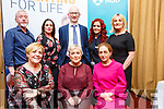 Invited guests, speakers and sponsors of the Women's Health Care Event by Sam McCauley Chemist, Tralee in the Manor West Hotel on Thursday evening last, seated l-r: Mary Byrne (X Factor and Operation Transformation), Dr Mary McCaffrey (Consultant Obstetrician/Gynaecologist) and Corinne Evans (Chartered Physiotherapist). Standing l-r: Louis Keary (Consultant Cardiologist) with Clair McEvoy, Brian Kearney MPSI, Tracy Stack and Christine Foley (all Sam McCauley Chemist).