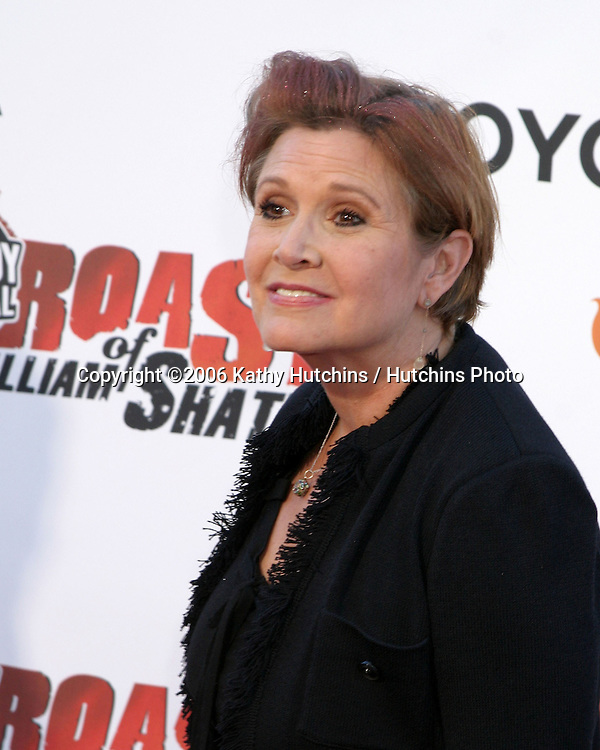 Carrie Fisher.William Shatner Roast.Taped by Comedy Central for future airdate.CBS Radford Lot.Studio City, CA.August 13, 2006.©2006 Kathy Hutchins / Hutchins Photo....