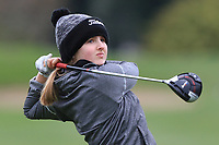 Eleanor Willis (WAL) on the 15th tee during Round 1 of the Irish Girls U18 Open Stroke Play Championship at Roganstown Golf &amp; Country Club, Dublin, Ireland. 05/04/19 <br /> Picture:  Thos Caffrey / www.golffile.ie