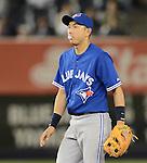 Munenori Kawasaki (Blue Jays),.APRIL 26, 2013 - MLB :.Munenori Kawasaki of the Toronto Blue Jays blows a bubble with gum during the baseball game against the New York Yankees at Yankee Stadium in The Bronx, New York, United States. (Photo by AFLO)