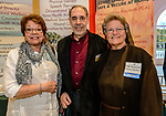 PLANTSVILLE, CT. 30 April 2018-043018BS08 - From left, Judy Michalski of Berlin Adult Education, Bruce Brayton of Brayton Associates of Southington stand with Sister Suzanne Gross of the Franciscan Home Care and Hospice Care in Meriden during the annual Chamber's Business Expo and Health & Wellness Fair at the Aqua Turf on Monday afternoon. Bill Shettle Republican-American