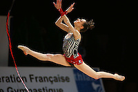 Romina Laurito of Italy split leaps with ribbon during All-Around competition at 2006 Thiais Grand Prix in Paris, France on March 25, 2006.  (Photo by Tom Theobald)