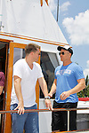 Jeff Branson, Sean Carrigan -  Actors from Y&R, Days and General Hospital donated their time to Southwest Florida 16th Annual SOAPFEST and during the weekend took a break to chill on one of the boats to see dolphins and to swim off Marco Island, Florida on May 23, 2015 - a celebrity weekend May 22 thru May 25, 2015 benefitting the Arts for Kids and children with special needs and ITC - Island Theatre Co.  (Photos by Sue Coflin/Max Photos)