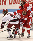 Bradley Fusco (Harvard - 9), Nina Rodgers (BU - 23), Maddie Elia (BU - 14) - The Harvard University Crimson tied the Boston University Terriers 6-6 on Monday, February 7, 2017, in the Beanpot consolation game at Matthews Arena in Boston, Massachusetts.